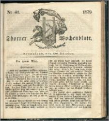 Thorner Wochenblatt 1839, Nro. 41 + Beilage, Thorner wöchentliche Zeitung
