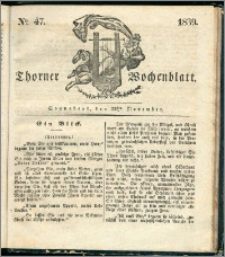 Thorner Wochenblatt 1839, Nro. 47 + Beilage, Thorner wöchentliche Zeitung