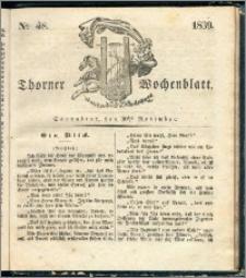 Thorner Wochenblatt 1839, Nro. 48 + Beilage, Zweite Beilage, Thorner wöchentliche Zeitung