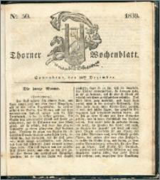 Thorner Wochenblatt 1839, Nro. 50 + Beilage, Thorner wöchentliche Zeitung