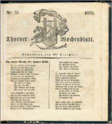 Thorner Wochenblatt 1839, Nro. 52 + Beilage, Thorner wöchentliche Zeitung