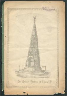 Festschrift zur Enthüllung des Krieger-Denkmals in Thorn am 18. Oktober 1880