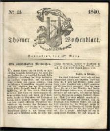 Thorner Wochenblatt 1840, Nro. 11 + Beilage, Thorner wöchentliche Zeitung
