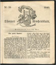 Thorner Wochenblatt 1840, Nro. 20 + Thorner wöchentliche Zeitung