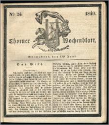 Thorner Wochenblatt 1840, Nro. 24 + Beilage, Zweite Beilag, Thorner wöchentliche Zeitung