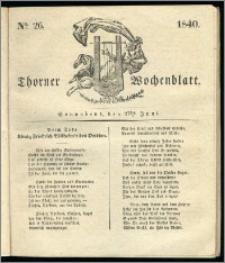 Thorner Wochenblatt 1840, Nro. 26 + Beilage, Thorner wöchentliche Zeitung