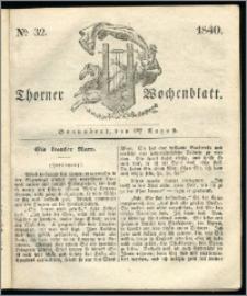 Thorner Wochenblatt 1840, Nro. 32 + Beilage, Zweite Beilage, Thorner wöchentliche Zeitung