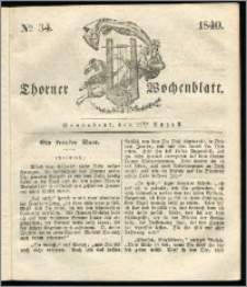 Thorner Wochenblatt 1840, Nro. 34 + Beilage, Thorner wöchentliche Zeitung