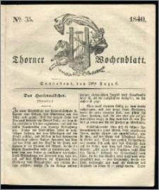 Thorner Wochenblatt 1840, Nro. 35 + Beilage, Zweite Beilage, Thorner wöchentliche Zeitung