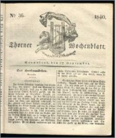 Thorner Wochenblatt 1840, Nro. 36 + Beilage, Thorner wöchentliche Zeitung