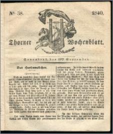 Thorner Wochenblatt 1840, Nro. 38 + Beilage, Thorner wöchentliche Zeitung
