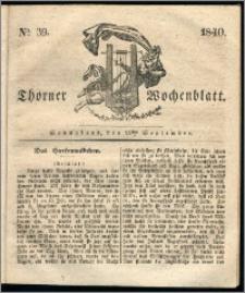 Thorner Wochenblatt 1840, Nro. 39 + Beilage, Thorner wöchentliche Zeitung