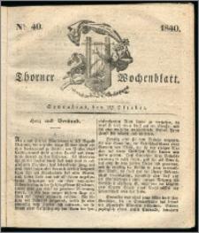 Thorner Wochenblatt 1840, Nro. 40 + Beilage, Zweite Beilage