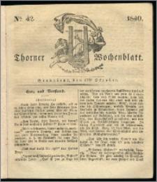 Thorner Wochenblatt 1840, Nro. 42 + Beilage, Thorner wöchentliche Zeitung