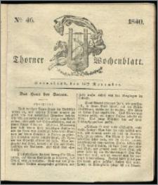 Thorner Wochenblatt 1840, Nro. 46 + Beilage, Zweite Beilage, Thorner wöchentliche Zeitung