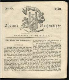 Thorner Wochenblatt 1840, Nro. 48 + Beilage, Thorner wöchentliche Zeitung