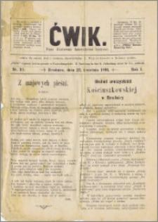 Ćwik. Pismo ilustrowane humorystyczno-krytyczne, R. 1894, Nr 30