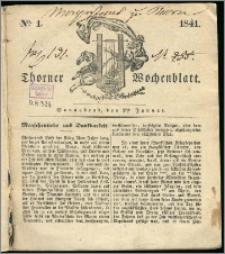 Thorner Wochenblatt 1841, Nro. 1 + Beilage