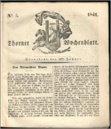 Thorner Wochenblatt 1841, Nro. 5 + Beilage, Thorner wöchentliche Zeitung