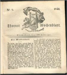 Thorner Wochenblatt 1841, Nro. 9 + Beilage, Thorner wöchentliche Zeitung