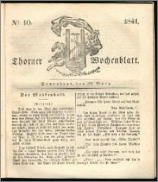 Thorner Wochenblatt 1841, Nro. 10 + Beilage, Thorner wöchentliche Zeitung