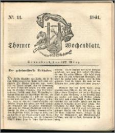 Thorner Wochenblatt 1841, Nro. 11 + Beilage, Thorner wöchentliche Zeitung