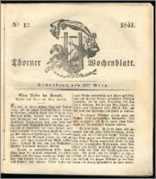 Thorner Wochenblatt 1841, Nro. 12 + Beilage, Thorner wöchentliche Zeitung