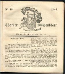 Thorner Wochenblatt 1841, Nro. 16 + Beilage, Thorner wöchentliche Zeitung