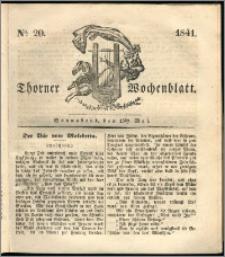 Thorner Wochenblatt 1841, Nro. 20 + Beilage, Thorner wöchentliche Zeitung