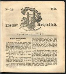 Thorner Wochenblatt 1841, Nro. 24 + Beilage, Thorner wöchentliche Zeitung