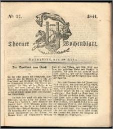 Thorner Wochenblatt 1841, Nro. 27 + Beilage