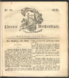 Thorner Wochenblatt 1841, Nro. 29 + Beilage, Thorner wöchentliche Zeitung
