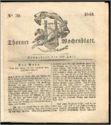 Thorner Wochenblatt 1841, Nro. 30 + Beilage, Zweite Beilage, Thorner wöchentliche Zeitung