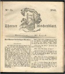 Thorner Wochenblatt 1841, Nro. 35 + Beilage, Thorner wöchentliche Zeitung