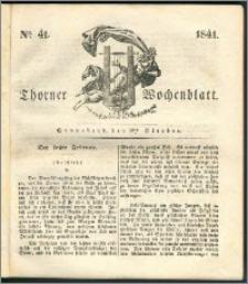Thorner Wochenblatt 1841, Nro. 41 + Beilage, Thorner wöchentliche Zeitung