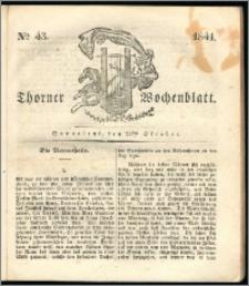Thorner Wochenblatt 1841, Nro. 43 + Beilage, Zweite Beilage, Thorner wöchentliche Zeitung