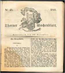 Thorner Wochenblatt 1841, Nro. 46 + Beilage, Thorner wöchentliche Zeitung