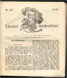Thorner Wochenblatt 1841, Nro. 47 + Beilage, Thorner wöchentliche Zeitung