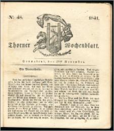 Thorner Wochenblatt 1841, Nro. 48 + Beilage, Thorner wöchentliche Zeitung