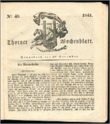 Thorner Wochenblatt 1841, Nro. 49 + Beilage, Thorner wöchentliche Zeitung