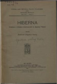 Hiberna : studjum z dziejów skarbowości w dawnej Polsce