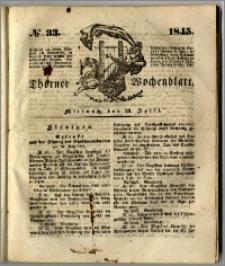 Thorner Wochenblatt 1845, No. 33 + Beilage