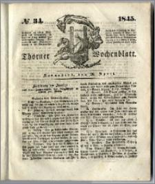 Thorner Wochenblatt 1845, No. 34 + Beilage, Zweite Beilage, Thorner wöchentliche Beitung