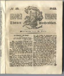 Thorner Wochenblatt 1845, No. 57 + Beilage