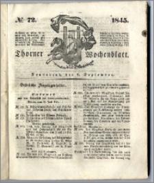 Thorner Wochenblatt 1845, No. 72 + Beilage, Thorner wöchentliche Beitung