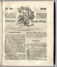 Thorner Wochenblatt 1845, No. 78 + Beilage, Zweite Beilage