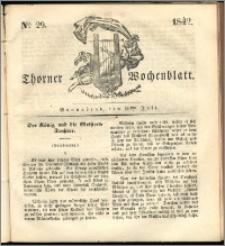Thorner Wochenblatt 1842, No. 29 + Beilage, Thorner wöchentliche Zeitung
