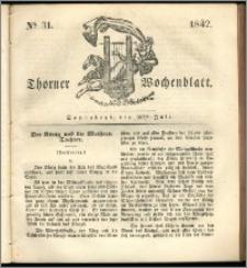 Thorner Wochenblatt 1842, No. 31 + Beilage, Zweite Beilage, Thorner wöchentliche Zeitung