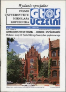 Głos Uczelni : pismo Uniwersytetu Mikołaja Kopernika R. 5=21 wydanie specjalne 31.05.-1.06.1996