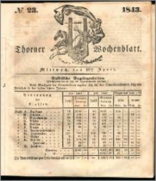 Thorner Wochenblatt 1843, No. 23 + Beilage